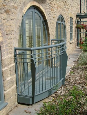 Galvanised and painted steel balconies for new build development