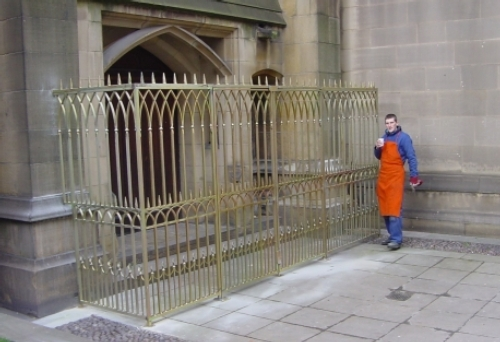 Gates designed and fitted for Manchester Cathedral, a Grade 1 listed building