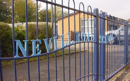 Gates made and installed at a Stockport primary school, using children's designs